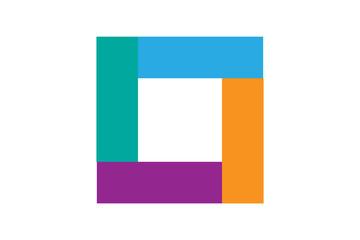 Logotipo cuadrado de colores.