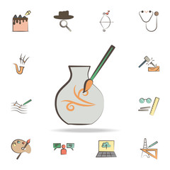 potter tools icon. Detailed set of tools of various profession icons. Premium graphic design. One of the collection icons for websites, web design, mobile app