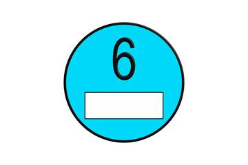 Badges for environmental zone fine dust badges