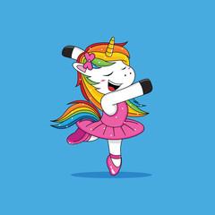 unicorn ballet cartoon