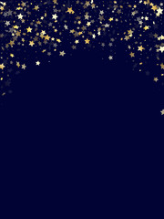Gold gradient star dust sparkle vector background.
