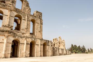 The Roman amphitheater of Thysdrus in El Djem, Tunisia