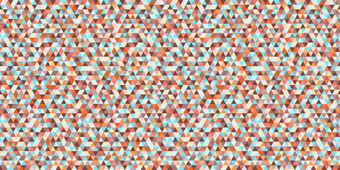 Tile pattern with triangles. Seamless geometric wallpaper of the surface. Mosaic background. Doodle for design. Print for polygraphy, posters, t-shirts and textiles. Fashion texture