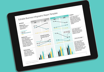 Business Report Infographic Layout