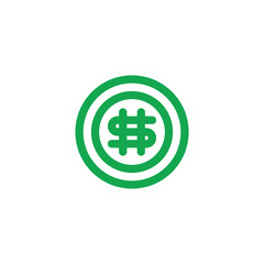 Circle with Dollar logo design