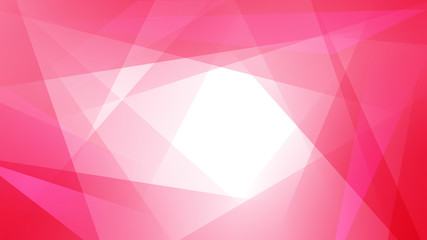 Abstract background of straight intersecting lines and polygons in red colors