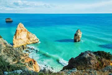 Amazing Rocks in blue ocean