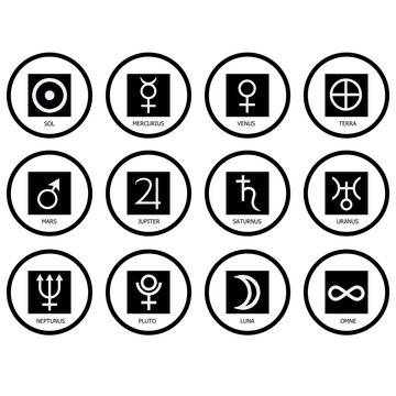 Símbolos de los planetas
