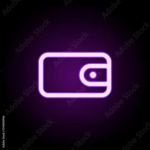 cash money payment wallet icon  Elements of web in neon style icons