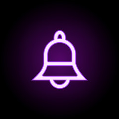 bell icon. Elements of web in neon style icons. Simple icon for websites, web design, mobile app, info graphics
