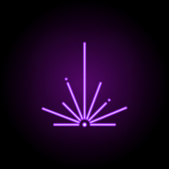 Blaster icon. Elements of Laser in neon style icons. Simple icon for websites, web design, mobile app, info graphics
