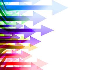 カラフルな複数の矢印