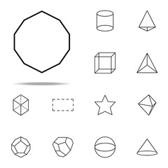 decagon icon. Geometric figures icons universal set for web and mobile