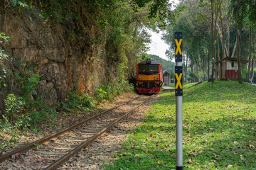 Death Railway danger create period World war two Sai Yok, Kanchanaburi Near Bangkok Thailand