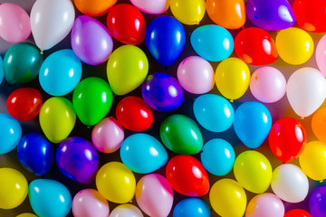 Background with the image of multicoloured balloons.