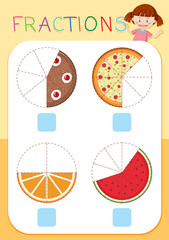 Set of cake fractions