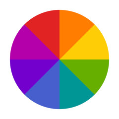 Color wheel or color circle picker flat vector icon for drawing / painting apps and websites
