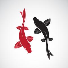 Vector of carp koi fish isolated on white background. Pet Animal. Easy editable layered vector illustration.