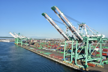 Photo sur Aluminium Los Angeles Port of Los Angeles in San Pedro, California