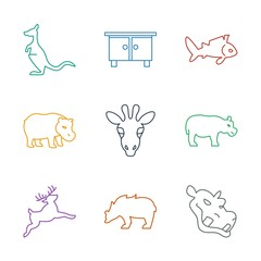 9 animal icons