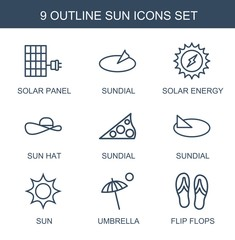 9 sun icons
