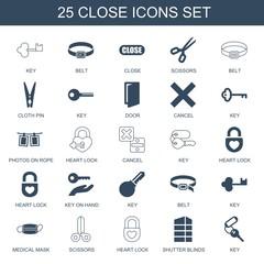 25 close icons