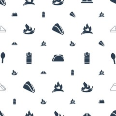 mexican icons pattern seamless white background