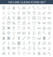 100 clean icons