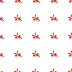 delivery bike icon pattern seamless white background