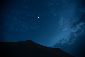 moon over tent zambia
