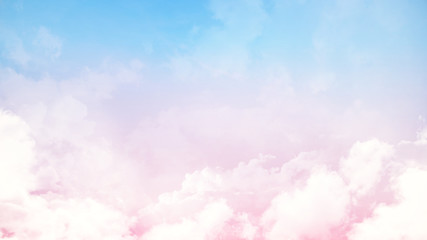 Soft cloudy is gradient pastel,Abstract blurred background in sweet color
