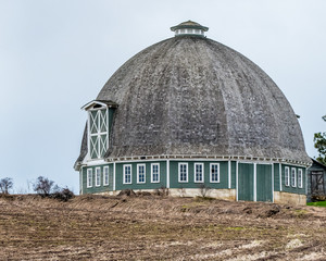 The round barn and hen house out building outside Pullman, Wa. on the old Pullman hwy.