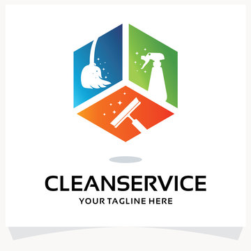 Cleaning Service Logo Design Template Inspiration