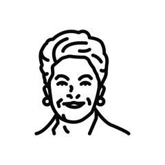 Black line icon for dilma