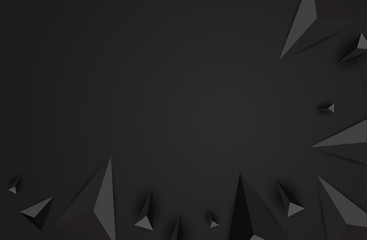 Black abstract background vector. Can be used in cover design, book design, website background, CD cover or advertising.