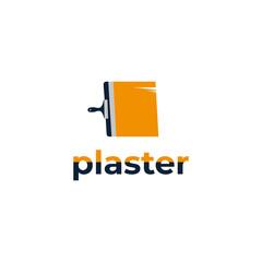 plaster logo. vector design