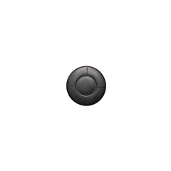 Black round rubber stopper isolated on white background