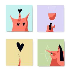 Romance and love image set