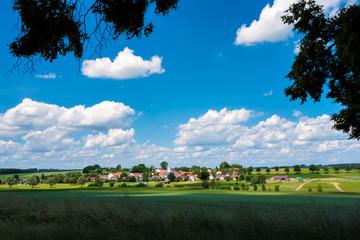 View to Bavarian village Unterlappach