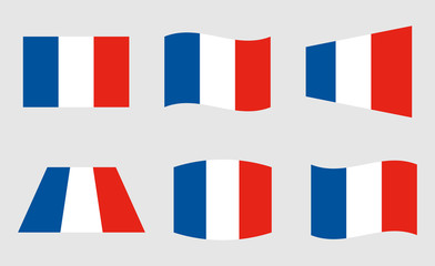France flag vector illustration, official colors of the French flag