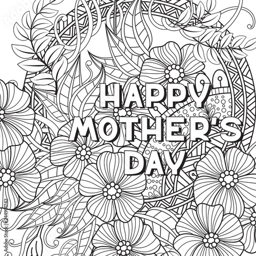 quot Happy Mother 39 s Day coloring page