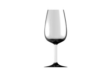 3D illustration of port wine glass isolated on white side view - drinking glass render