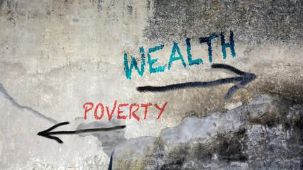 Sign 391 - Wealth Wall mural