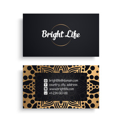 Business Card. Luxury template