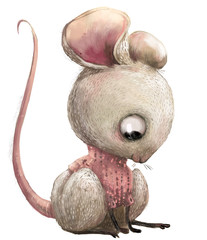 cute lovely cartoon mouse