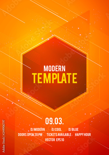 Vector Illustration Abstract Dance Party Poster Background