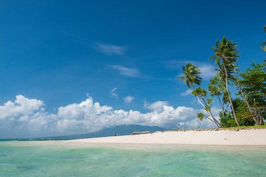 tropical beach near munda solomon islands