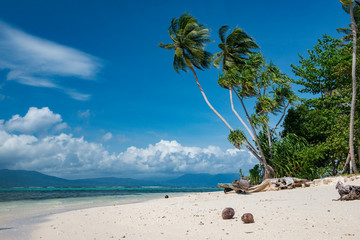Tropical beach near Munda Solomon islands