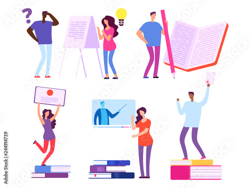 International people, students get education from books and