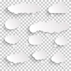 sticker speech bubbles with shadow